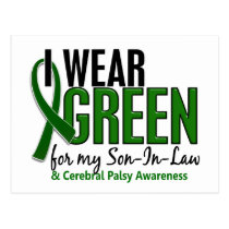 I Wear Green For My Son-In-Law 10 Cerebral Palsy Postcard