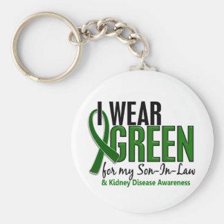 I Wear Green For My Son-In-Law 10 Kidney Disease Keychain