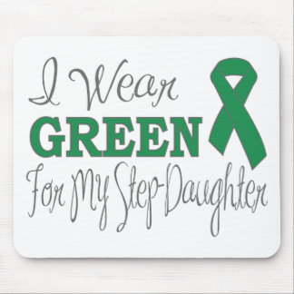 I Wear Green For My Step-Daughter Green Ribbon Mousepad
