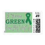 I Wear Green For My Step-Son (Green Ribbon) Postage