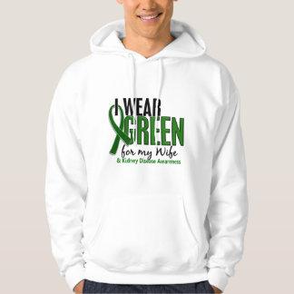 I Wear Green For My Wife 10 Kidney Disease Hoodie