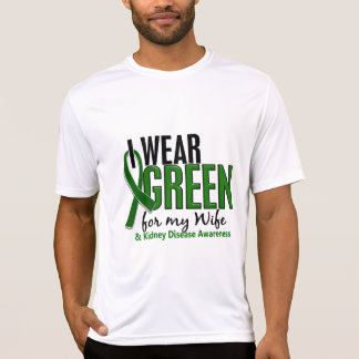 I Wear Green For My Wife 10 Kidney Disease T-Shirt