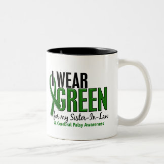 I Wear Green For Sister-In-Law 10 Cerebral Palsy Two-Tone Coffee Mug