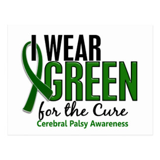 I Wear Green For The Cure 10 Cerebral Palsy Postcard