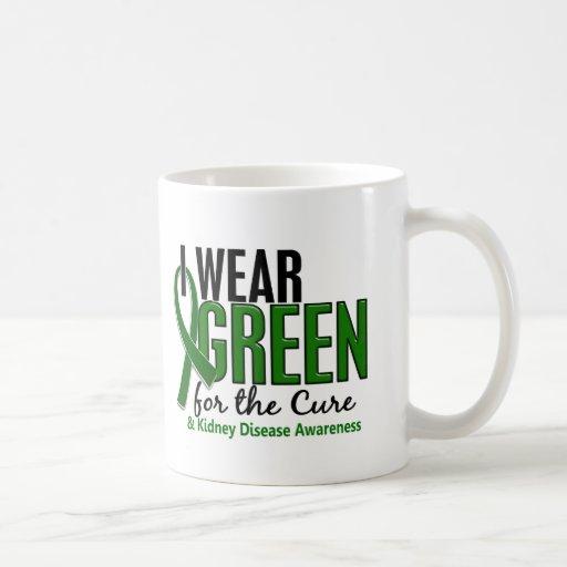I Wear Green For The Cure 10 Kidney Disease Classic White Coffee Mug