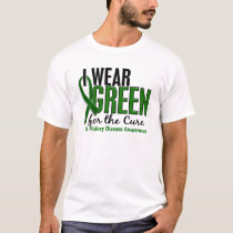I Wear Green For The Cure 10 Kidney Disease T-Shirt