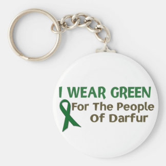 I Wear Green For The PEOPLE OF DARFUR Basic Round Button Keychain