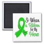 I Wear Green Ribbon For My Hero SCT and BMT Fridge Magnets