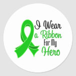 I Wear Green Ribbon For My Hero SCT and BMT Sticker