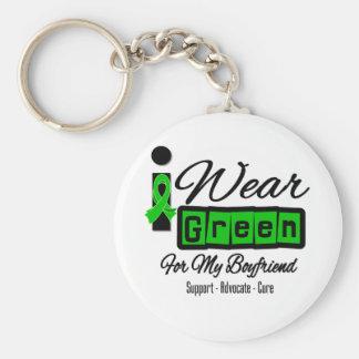 I Wear Green Ribbon (Retro) - Boyfriend Basic Round Button Keychain
