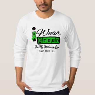 I Wear Green Ribbon (Retro) - Brother-in-Law T-shirt
