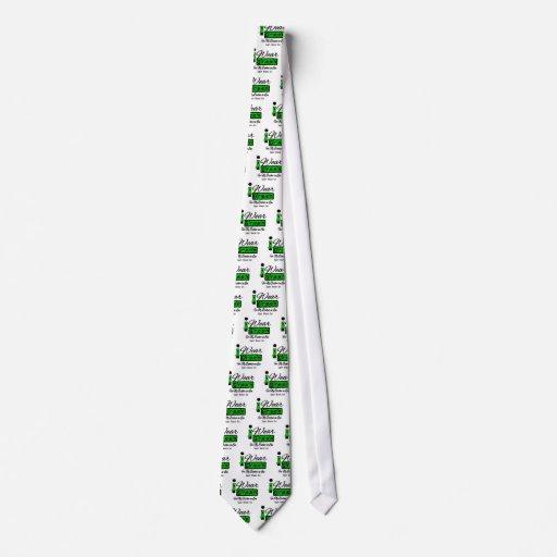 I Wear Green Ribbon (Retro) - Brother-in-Law Custom Tie