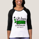 I Wear Green Ribbon (Retro) - Brother-in-Law Tee Shirts
