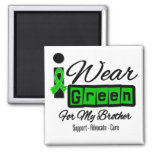 I Wear Green Ribbon (Retro) - Brother Magnet