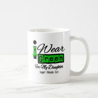 I Wear Green Ribbon (Retro) - Daughter Classic White Coffee Mug