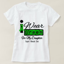 I Wear Green Ribbon (Retro) - Daughter T-Shirt