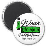 I Wear Green Ribbon (Retro) - Friend Refrigerator Magnets