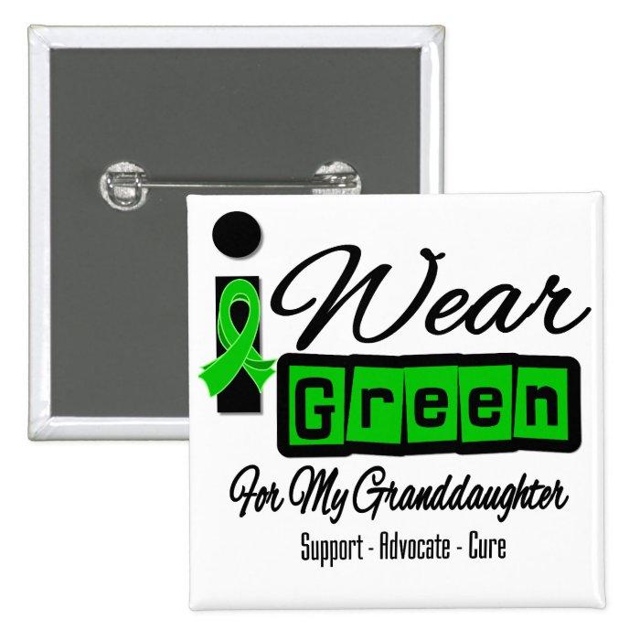 I Wear Green Ribbon (Retro) - Granddaughter Button