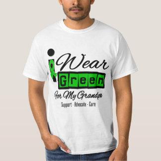 I Wear Green Ribbon (Retro) - Grandpa Tee Shirt