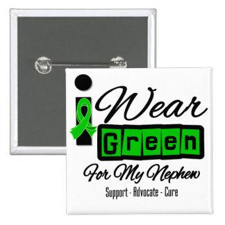 I Wear Green Ribbon (Retro) - Nephew Pinback Button
