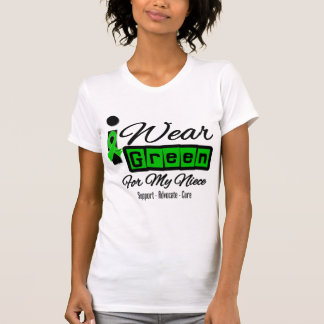 I Wear Green Ribbon (Retro) - Niece T-shirt