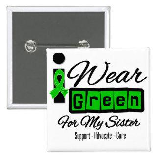 I Wear Green Ribbon (Retro) - Sister Button