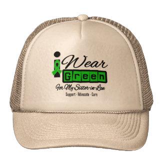 I Wear Green Ribbon Retro - Sister-in-Law Trucker Hats