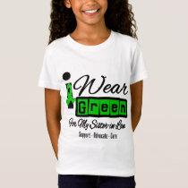 I Wear Green Ribbon (Retro) - Sister-in-Law T-Shirt