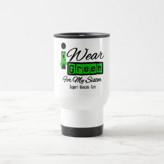 I Wear Green Ribbon Retro - Sister Mugs