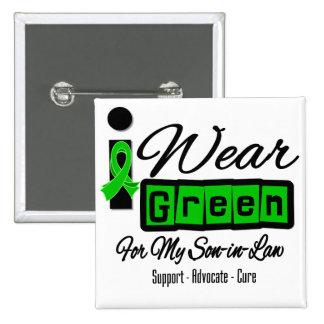 I Wear Green Ribbon (Retro) - Son-in-Law Pinback Button