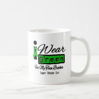 I Wear Green Ribbon (Retro) - Twin Brother Classic White Coffee Mug