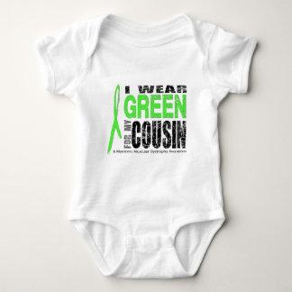 I wear green tee shirt