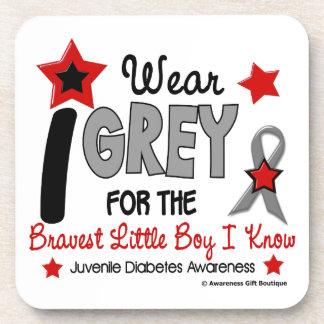 I Wear Grey 12 Bravest Little Boy Juv Diabetes Coasters