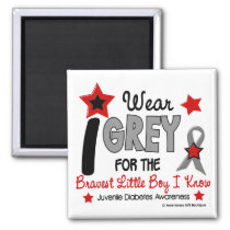I Wear Grey 12 Bravest Little Boy Juv Diabetes Magnet