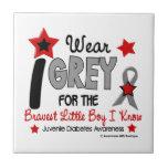 I Wear Grey 12 Bravest Little Boy Juv Diabetes Tile