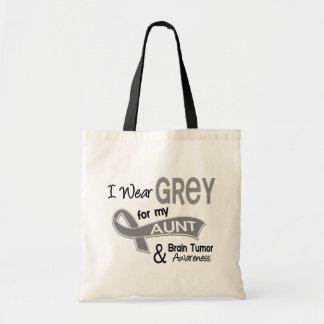 I Wear Grey 42 Aunt Brain Tumor Canvas Bags