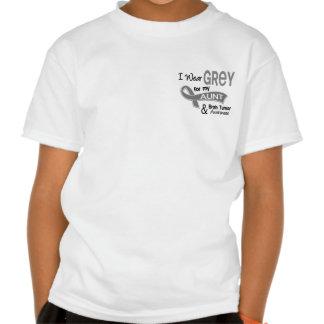 I Wear Grey 42 Aunt Brain Tumor T Shirt