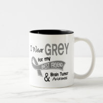 I Wear Grey 42 Best Friend Brain Tumor Two-Tone Coffee Mug