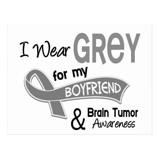 I Wear Grey 42 Boyfriend Brain Tumor Postcard