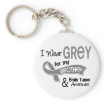 I Wear Grey 42 Brother Brain Tumor Keychain