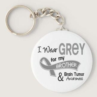 I Wear Grey 42 Brother Brain Tumor Keychain