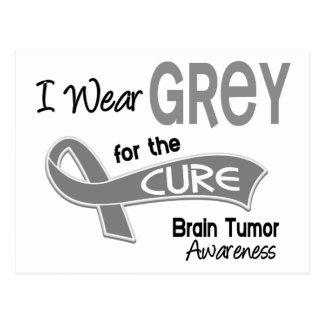 I Wear Grey 42 Cure Brain Tumor Postcard