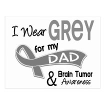 I Wear Grey 42 Dad Brain Tumor Postcard