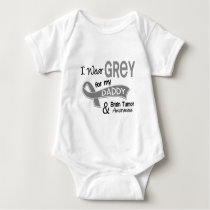 I Wear Grey 42 Daddy Brain Tumor Baby Bodysuit