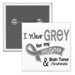 I Wear Grey 42 Daughter Brain Tumor 2 Inch Square Button