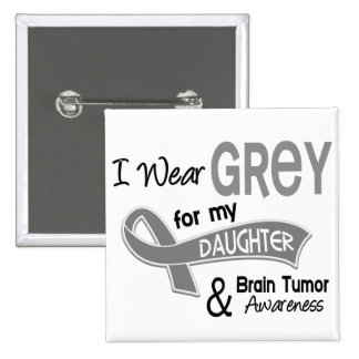I Wear Grey 42 Daughter Brain Tumor Button