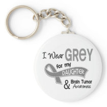 I Wear Grey 42 Daughter Brain Tumor Keychain