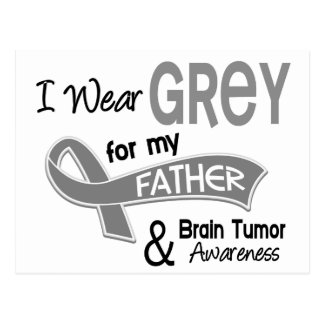 I Wear Grey 42 Father Brain Tumor Postcard