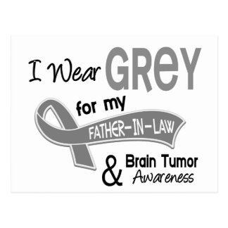 I Wear Grey 42 Father-In-Law Brain Tumor Postcard