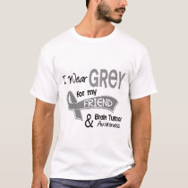 I Wear Grey 42 Friend Brain Tumor T-Shirt